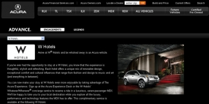 Acura Experience with W Hotels