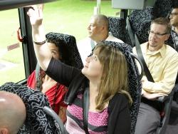 WeDriveU commuter shuttle bus