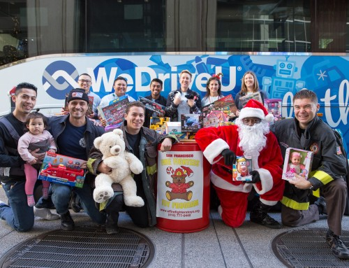 WeDriveU Spreads Holiday Cheer with #StuffTheBus Toy Drive for SF Bay Area Children