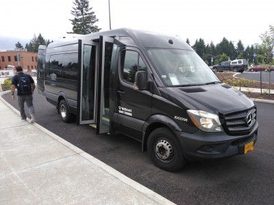 WeDriveU operates shuttles for Clackamas Community College Portland Oregon | University Shuttles