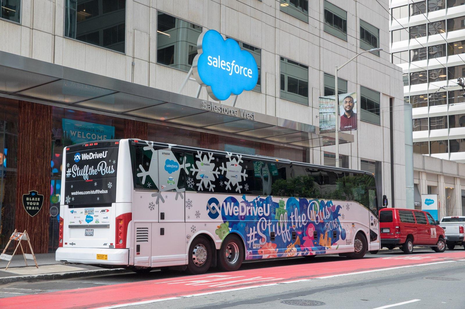 WeDriveU Stuff the Bus