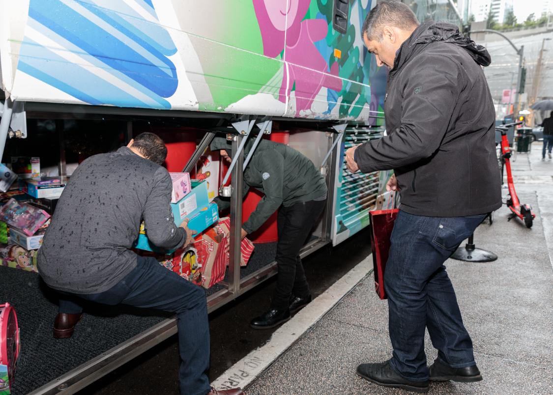 2019 WeDriveU Stuff the Bus Commuter Toy Drive SF