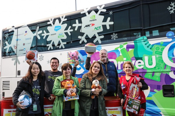 2019 WeDriveU Stuff the Bus Toy Drive with NVIDIA