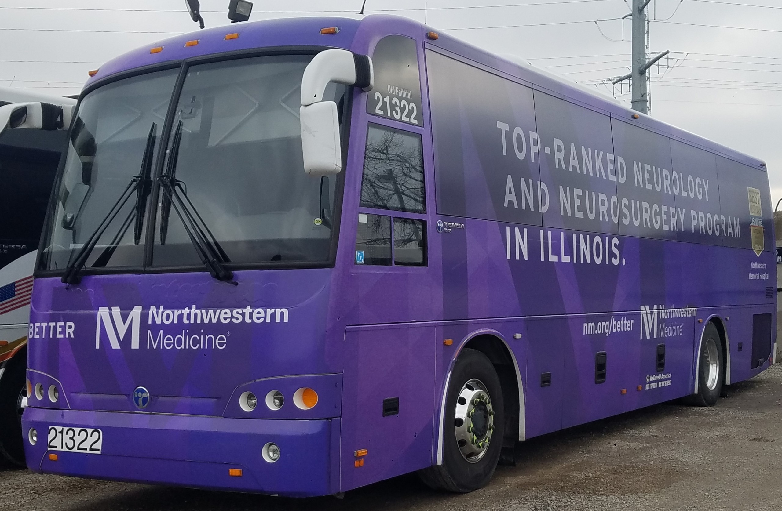 Northwestern University shuttles operated by WeDriveU