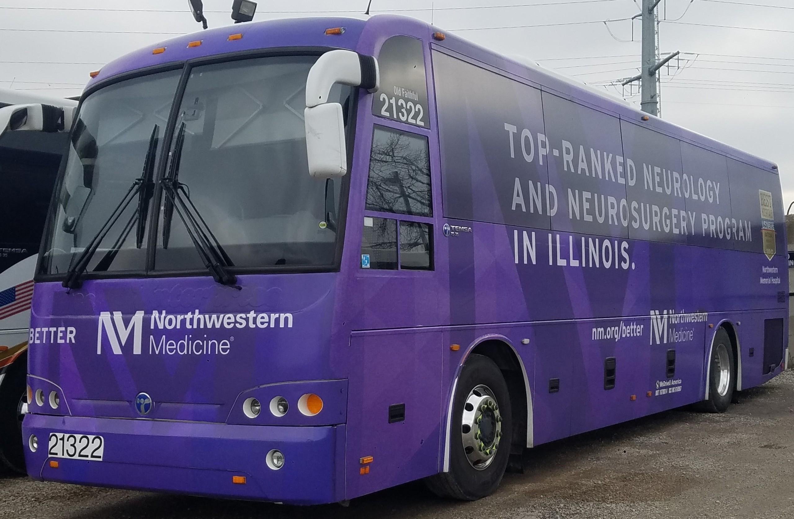 Northwestern University shuttles operated by WeDriveU