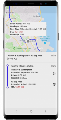 WeDriveU Shuttles Trip Planning Mobile App