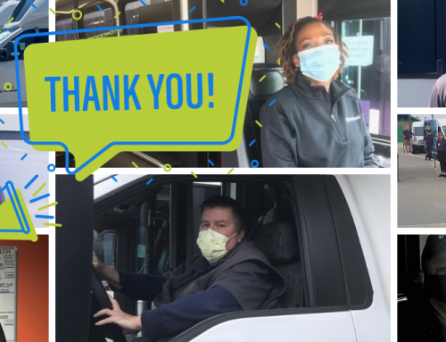 WeDriveU Thanks Bus Drivers Serving Other Essential Workers