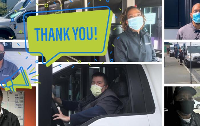 Thank you WeDriveU shuttle drivers