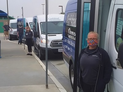 WeDriveU Carlsbad Connector Shuttle Drivers