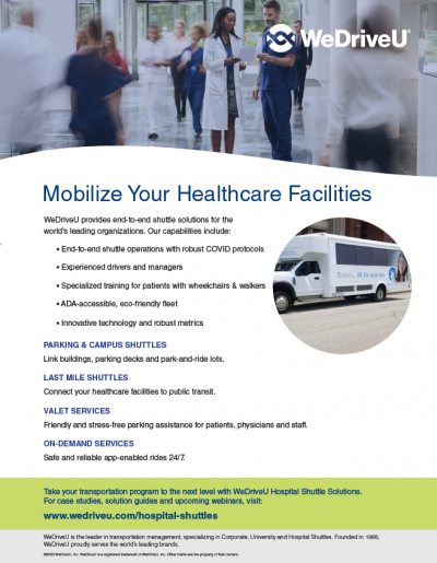 WeDriveU Hospital Shuttle Solutions Flyer download now